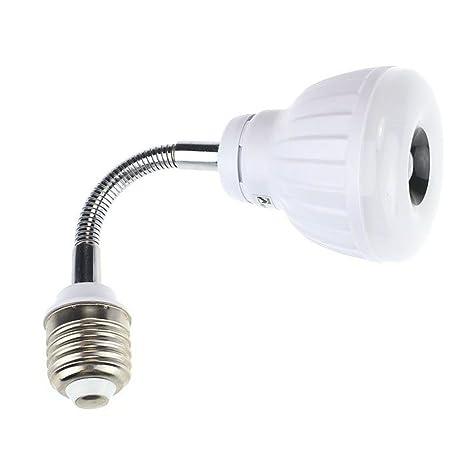 Bessky Sensor luz, AC 110 V 220 V E27 5 W LED PIR sensor infrarrojo