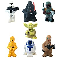 Disney Parks Exclusive Star Wars Set of 7 Character Squeeze Bath Tub Pool Toy...