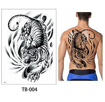 yyyDL Etiqueta engomada del tatuaje temporal Grandes diseños de ...