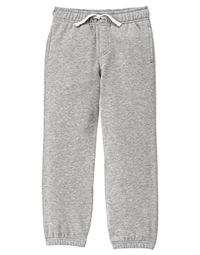 Gymboree Big Boys' Basic Knit Pants, Classic Grey Heather, M Boys Knit Pants