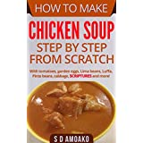 How to Make Chicken Soup Step by Step from Scratch: With tomatoes, garden eggs, lima beans, luffa, pinto beans, cabbage and more!