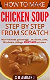 chicken and cabbage - How to Make Chicken Soup Step by Step from Scratch: With tomatoes, garden eggs, lima beans, luffa, pinto beans, cabbage and more!