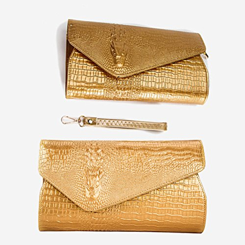 Bag Women Crocodile Shiny Banquet Shoulder Handbag LUOEM for Bag Printed Crossbody 4wqOTPO