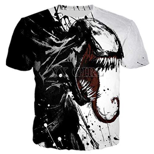 YX GIRL 3D Hoodies Unisex 3D Printed Spiderman Venom Villain Skull Hoodie Funny Hoodies (Turtle t-Shirt, XS)