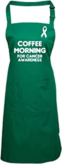 Coffee Morning For Cancer Awareness Apron Charity Macmillans Donation Bottle-Green Macmillans Research Donation Fundraising