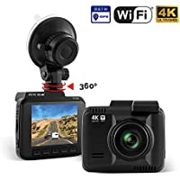 Dash Cam :: Rove R2-4K UltraHD 2160P + 2.4 LCD 150° Wide Angle with Super Night Vision :: Car DashBoard Camera Built In WiFi & GPS