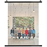 Fanstown Kpop Super Junior Play Wall Scroll Cloth Poster with lomo Cards
