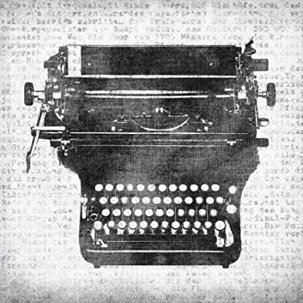 Máquina de escribir II por, de papel de lija Kristin – Fine Art Print disponible