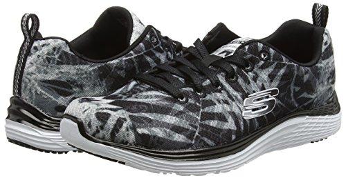 Skechersvaleris Mujer Black Zapatillas Negro Running bkw Mai De Tai rgxrnS