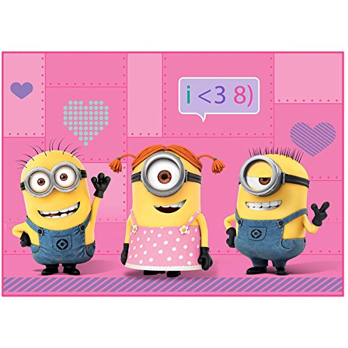 Despicable Me We Love Minions Pink Girl Accent Rug 30 in. x 40 in. (Pink Minion)