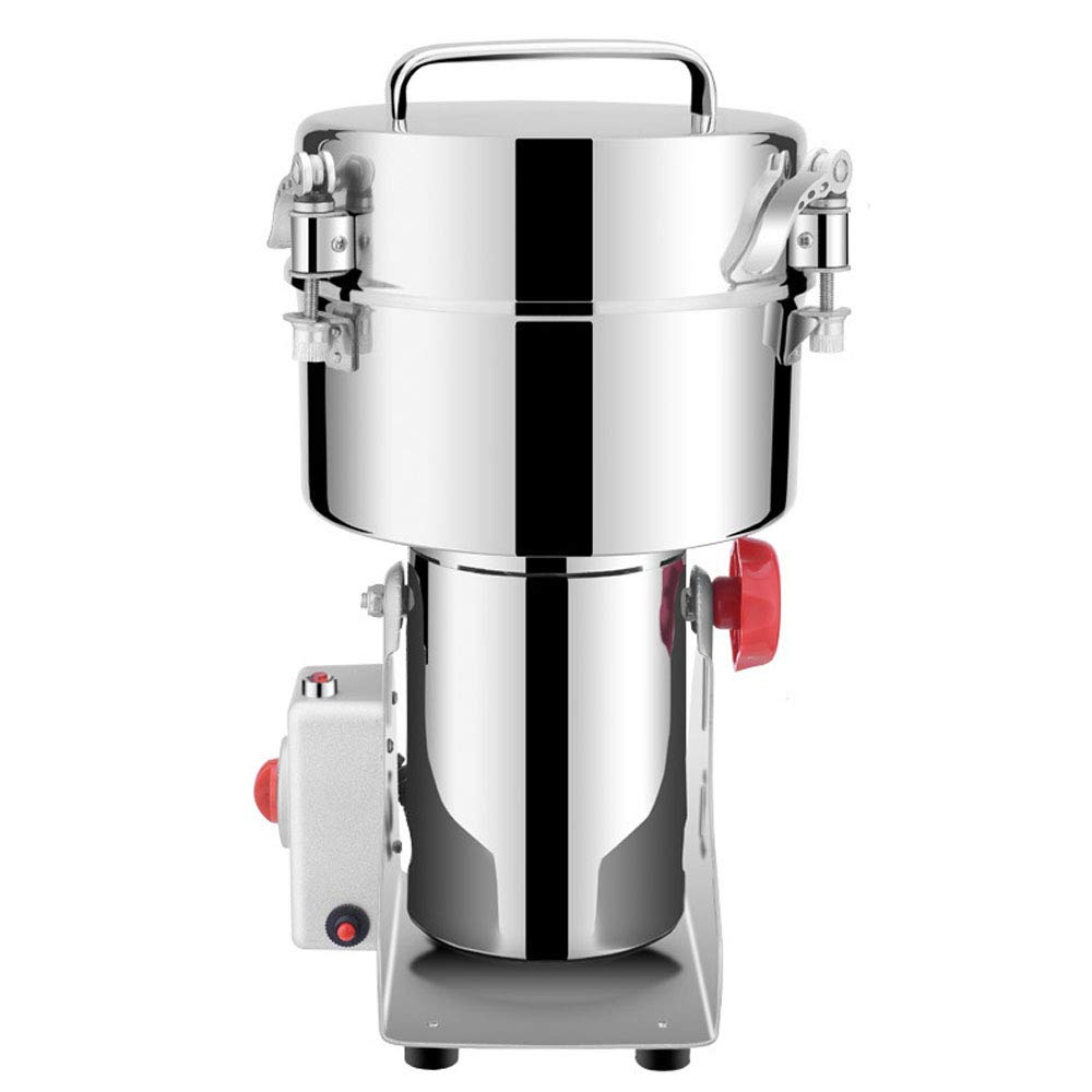 2500G Commercial Electric Stainless Steel Sugar Grain Grinder Mill Swing Type for Grinding Various Grains Spice Nut Grain Mill Herb Grinder Flour Powder Machine Commercial Grade 110V/220V,220V by Gaone