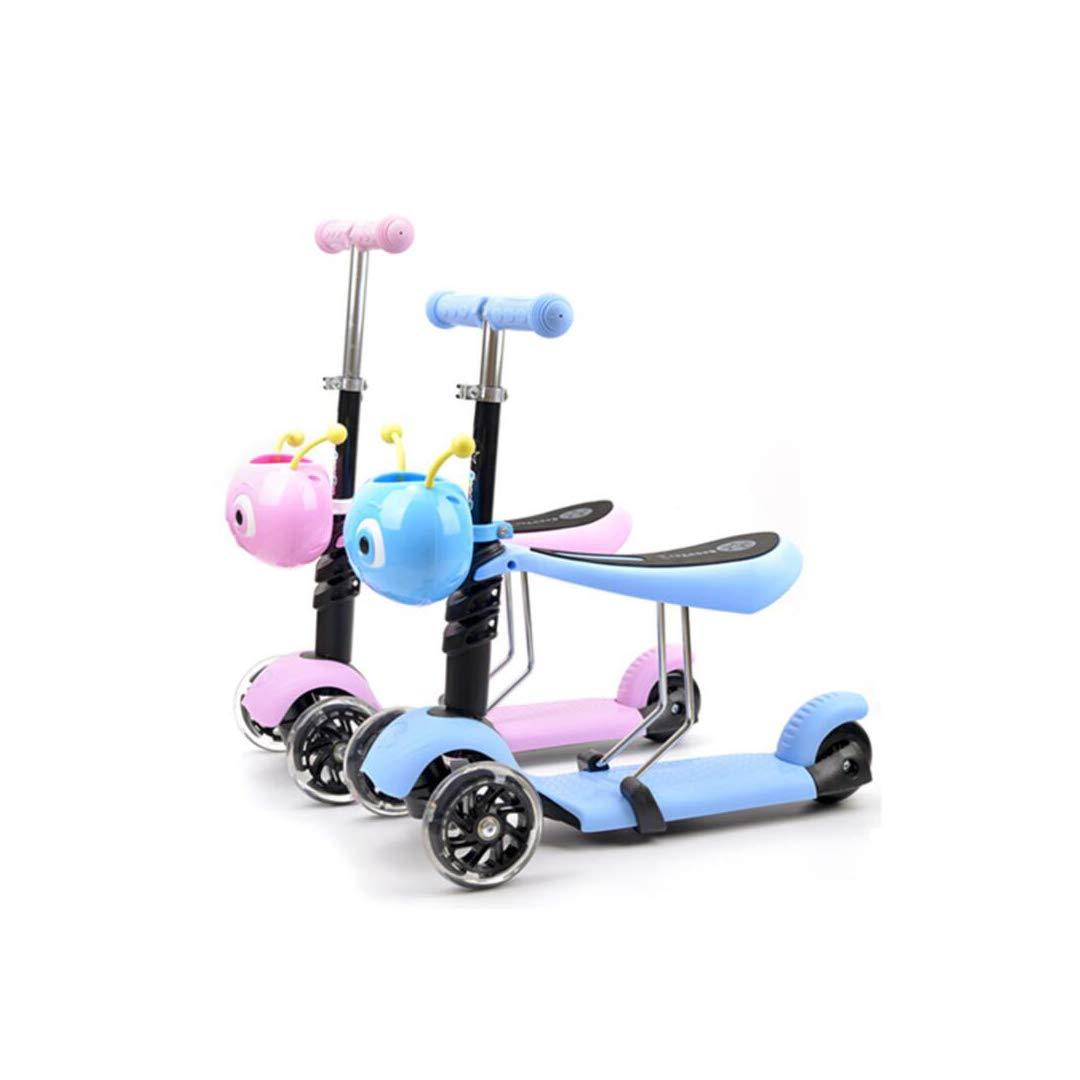 注目の TLMYDD 青 子供のスクーター1-3-6歳のスリッパは三輪子供の車のフラッシュホイールの赤ちゃんのスクーターに座ることができます 青) 子供スクーター (色 : 青) B07NMQ9CW1 B07NMQ9CW1 青, EAIM:8af61b0e --- a0267596.xsph.ru
