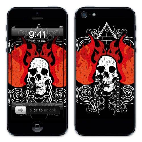 Diabloskinz B0081-0004-0021 Vinyl Skin für Apple iPhone 5/5S Skull