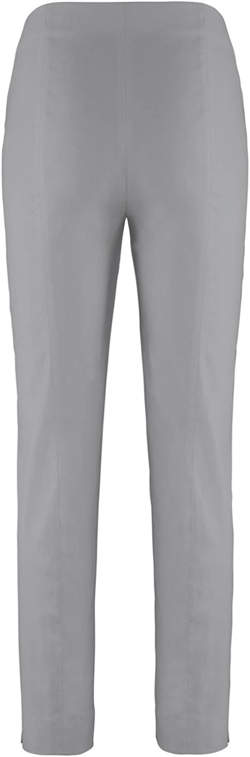 Standing Man Loli 742 Comfortable Stretch Women's Trousers with Narrow Legs Silver