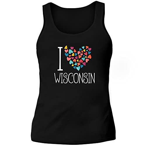 Idakoos I love Wisconsin colorful hearts - Stati Uniti - Canotta Donna
