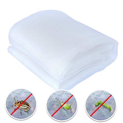 Agfabric Standard Insect Screen & Garden Netting Against Bugs, Birds & Squirrels - Mesh Netting, White (10