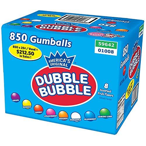 850 Piece Dubble Bubble Fruit Gumballs. ()