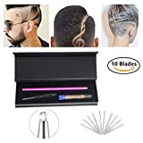 Hair Tattoo Trim Styling Face Eyebrow Shaping Device, Hair Styling Tools,Engraved Pen + 10 Blades + Tweezer Hair Styling Eyebrows Beards Razor Tool/DIY Hair Tool For Womens,Mens and Children