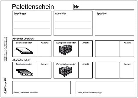 3er Pack Palettenscheine Lademittelnachweis DIN A5 quer (210 x 148 mm) 3 Blöcke á 25 Satz 4-fach selbstdurchschreibend Lademittelschein Ladeschein Palettennachweis