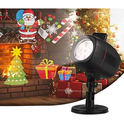chollos oferta descuentos barato OUSFOT Luces de Proyector Luces Navidad Impermeable Exterior con 16 Diapositivas de Patrón para Fiesta Navidad Festivos Clase de eficiencia energética A