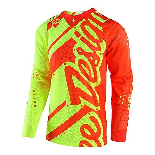 - Troy Lee Designs Men's Offroad Motocross Shadow SE Air Jersey (Large, Flo Yellow/Orange)