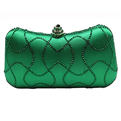 DMIX Womens Evening Bag with Rhinestone Crystal Clutch