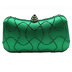 Women's Flower Crystal Clutch