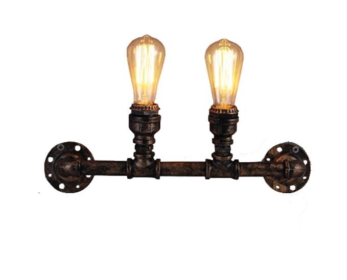 Hjzy retro lampada da parete in ferro battuto decorativo parete