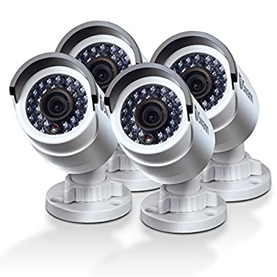 Swann 3MP Bullet IP Security Cameras with Fixed Lens - Pack of 4, White - CONHD-C3MPB4-US