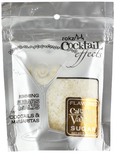 Rokz Design Group Cocktail Sugar, Caramel Vanilla, 5 Ounce