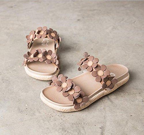 2018 Nouvelles Chaussures de Femmes Simple Ouvert Orteil Sandales d'été Version coréenne de l'été des Chaussures de Sport en Cuir 9QRLqOP6e