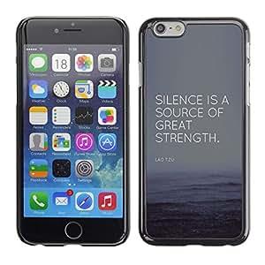 """For Apple iPhone 6 / 6S (4.7 inches!!!)/6S (4.7 INCH) Case , Éxito Gran Fuerza Fuente Cita"""" - Diseño Patrón Teléfono Caso Cubierta Case Bumper Duro Protección Case Cover Funda"""