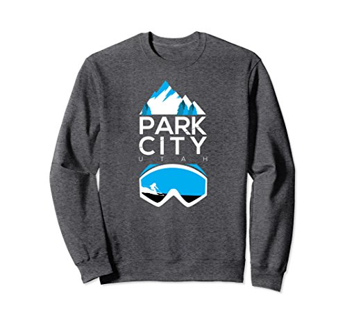 Utah Ski Snowboard (Unisex Park City sweatshirt - Utah ski & snowboard clothing Medium Dark Heather)