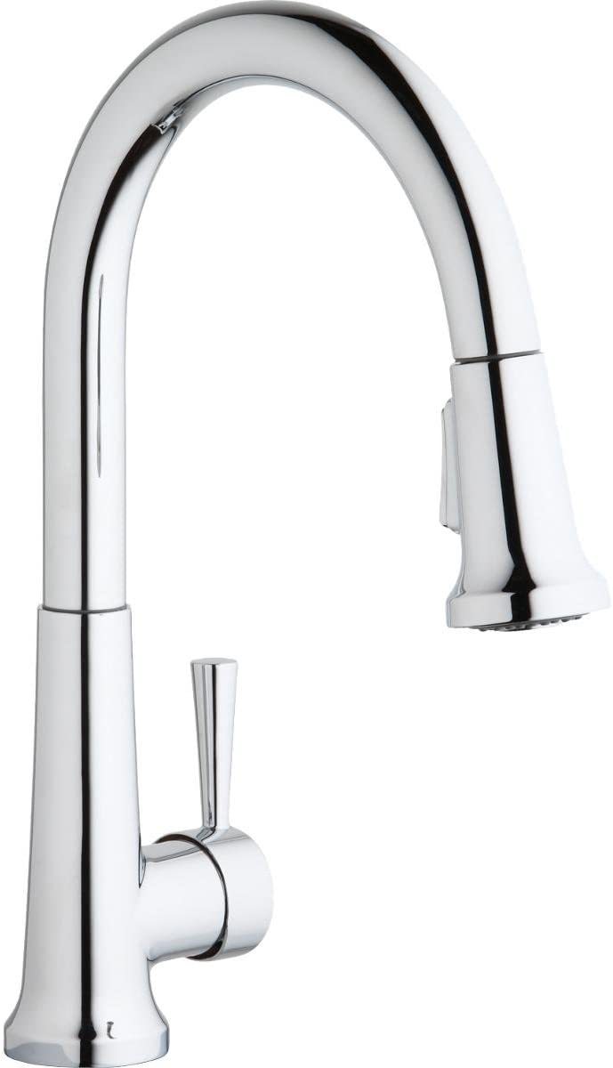 Elkay Everyday Lk6000cr Single Hole Deck Mount Kitchen Faucet With Pull Down Spray And Forward Only Lever Handle Chrome Touch On Kitchen Sink Faucets Amazon Com