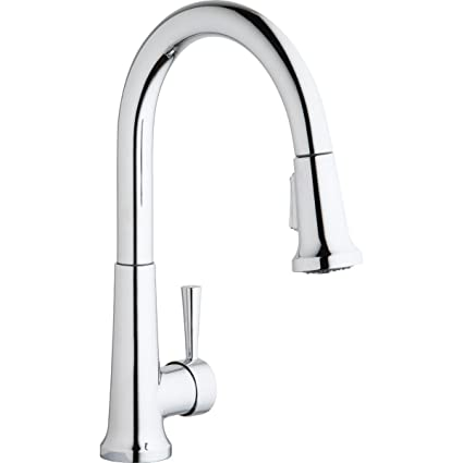 Elkay Kitchen Faucets | Elkay Lk6000cr Everyday Chrome Single Lever Pull Down Spray Kitchen