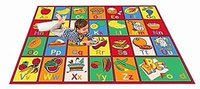 Kids Rugs ABC Alphabet Chart Fruits for Playorom and Nursery