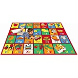 MYBECCAu0027s Nursery Kids Rug ABC FRUIT AND FOOD Area Rug 5 Ft X 7 Ft (