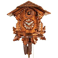 Alexander Taron 436HV Engstler Weight-Driven Cuckoo Clock-Full Size-10.5 H x 9.75 W x 6 D, Brown