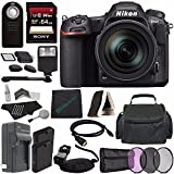 Nikon D500 DSLR Camera with 16-80mm Lens + Rechargable Li-Ion Battery + Home and Car External Charger + Sony 64GB SDXC Card + HDMI Cable + Case + Remote + Memory Card Reader + Cloth + Flash Bundle