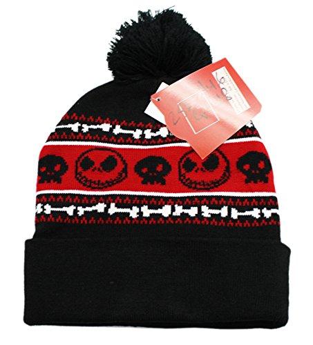 - The Nightmare Before Christmas Jack Skellington Fair Isle Knit Hat Black
