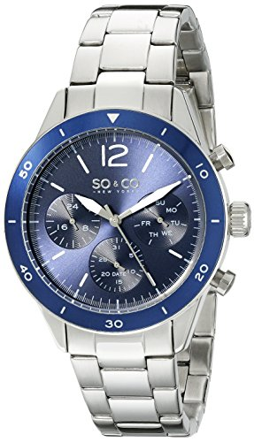 Amazon Lightning Deal 60% claimed: SO&CO New York Men's 5032.2 Yacht Timer Quartz Multifunction Stainless Steel Link Bracelet Watc