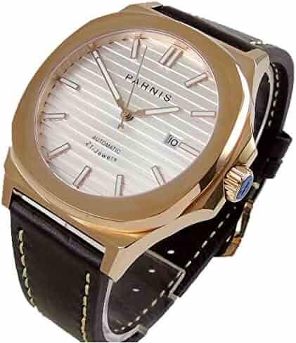 070e97302 Parnis Watch 44mm Square case Sapphire Glass Luminous 21 Jewels MIYOTA 821A  Automatic Movement Men's Watch