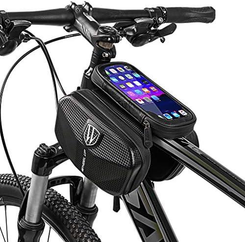 自転車 フレーム バッグ 自転車バッグ フロントバッグ 防水 電話ホルダー 大容量 軽量