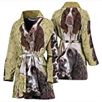 Breedink Cute English Springer Spaniel Print Women's Bath Robe 7