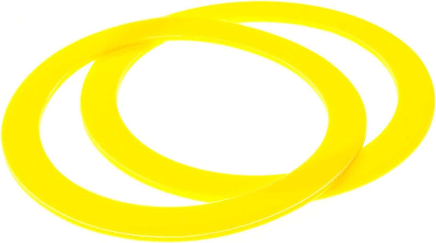 2-Pack of Compatible Canister Flush Seal Valve Seal Gasket Replacements for single Flush Toilets for KOHLER equivalent to part K-GP1059291//2475620-yellow color.