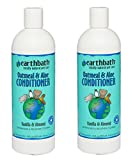 Earthbath Natural Oatmeal and Aloe Dog Cat Moisturising Conditioner 16 ounce (2 Pack)