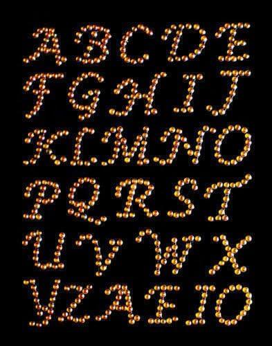 CraftbuddyUS 30 x 23mm Stick On Self Adhesive GOLD Gems LETTERS Diamante Crystal ABC Craft