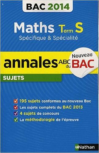 Livres ANNALES BAC 2014 MATHS S SPE & pdf, epub