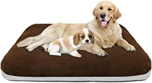 Magic Dog Large Dog Bed Orthopedic Pet Beds 47/39/30 Inch Washable Crate Pad Mat Anti Slip Dog Sleeping Mattress with Removable Cover in Multi Color