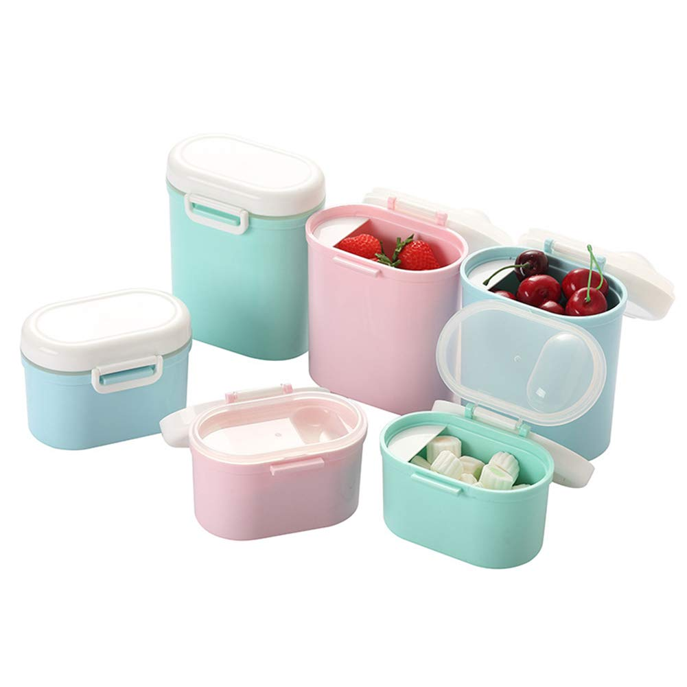 dontdo Portable Infant Milk Powder Storage Box Large Capacity Flour Case Fully Sealed Container